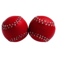 Chop Cup Balls Red Leather (Set of 2) by Leo Smetsers