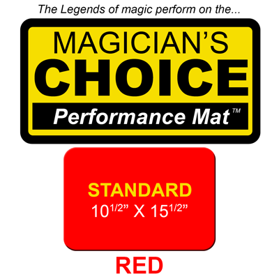 """Standard Close-Up Mat (RED - 10.5"""" x 15.5"""") by Ronjo"""
