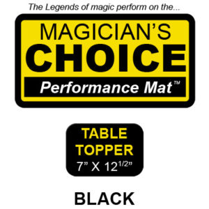 "Table Topper Close-Up Mat (BLACK - 7"" x 12.5"") by Ronjo"