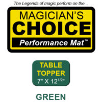 "Table Topper Close-Up Mat (GREEN - 7"" x 12.5"") by Ronjo"