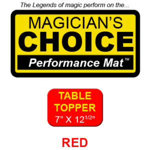 "Table Topper Close-Up Mat (RED - 7"" x 12.5"") by Ronjo"